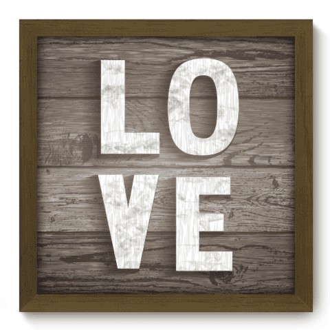 Quadro Decorativo - Love - 033qdom