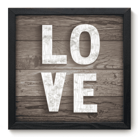 Quadro Decorativo - Love - 033qdop