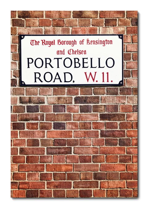 Placa Decorativa - Portobello Road - 0344plmk