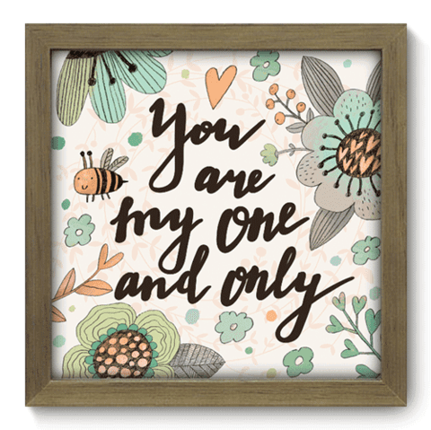 Quadro Decorativo - My One - 035qdom