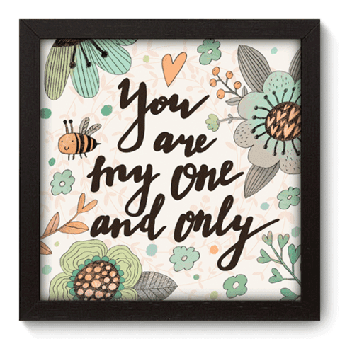 Quadro Decorativo - My One - 035qdop