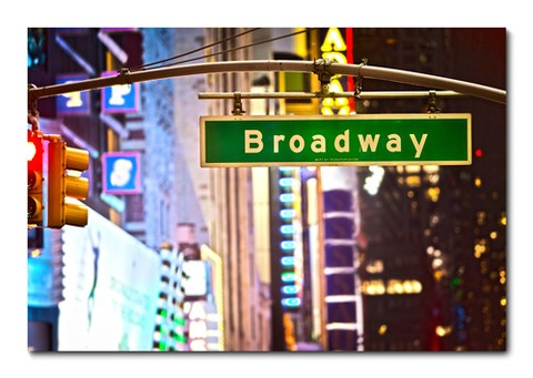 Placa Decorativa - Broadway - 0361plmk