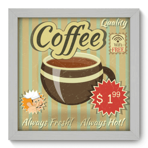 Quadro Decorativo - Coffee - 036qdcb