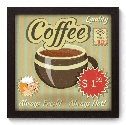 Quadro Decorativo - Coffee - 036qdcp