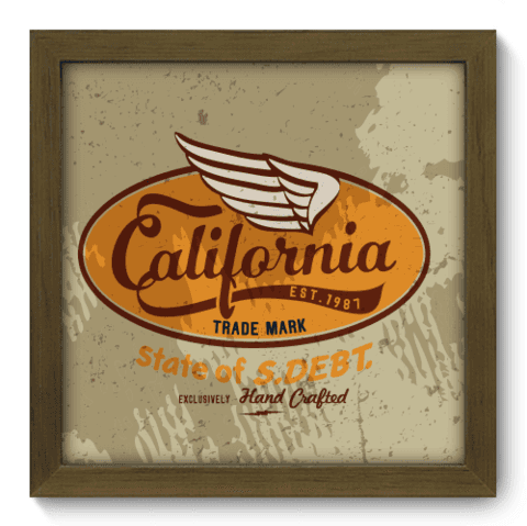 Quadro Decorativo - California - 037qdvm