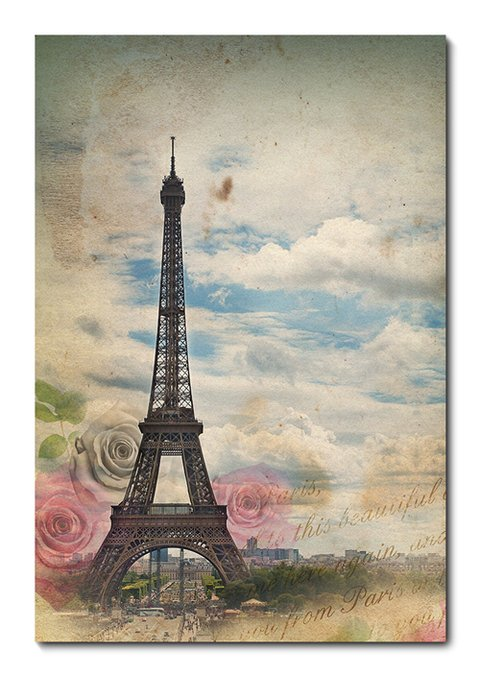 Placa Decorativa - Torre Eiffel - Paris - 0384plmk
