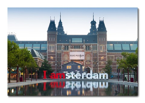 Placa Decorativa - Amsterdã - 0391plmk