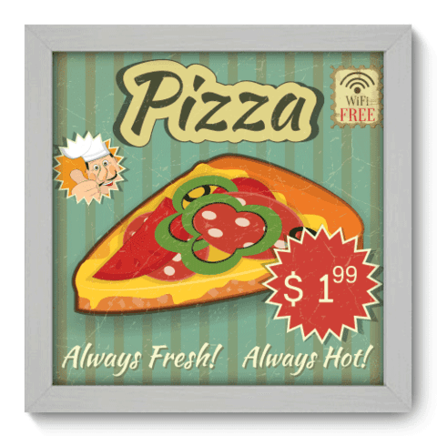 Quadro Decorativo - Pizza - 039qdcb