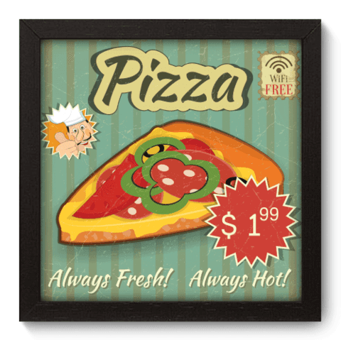 Quadro Decorativo - Pizza - 039qdcp