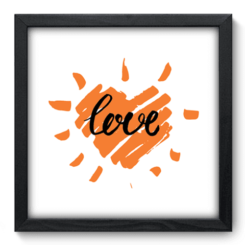 Quadro Decorativo - Love - 039qdop
