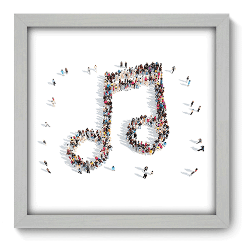 Quadro Decorativo - Nota Musical - 040qdgb