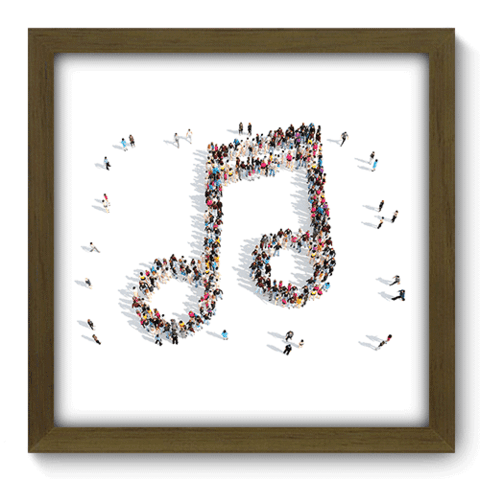Quadro Decorativo - Nota Musical - 040qdgm