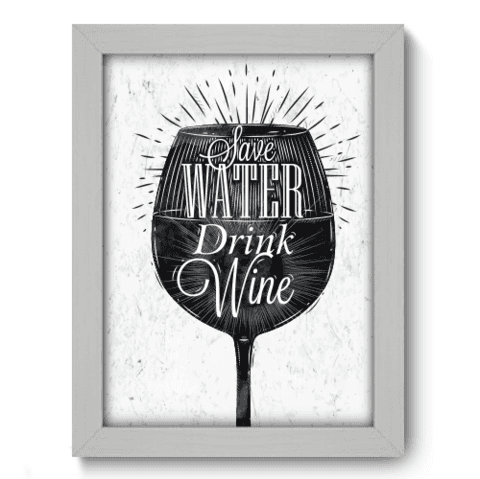 Quadro Decorativo - Save Water - 040qdrb