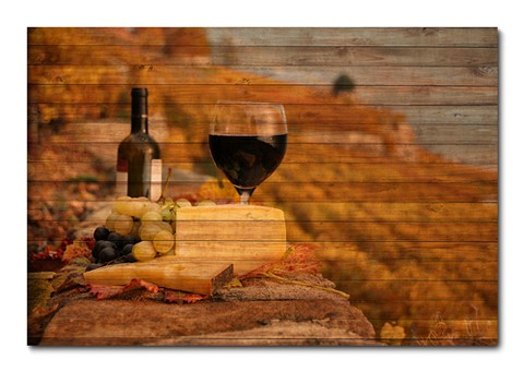 Placa Decorativa - Vinho - 0411plmk