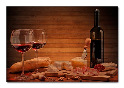 Placa Decorativa - Vinho - 0412plmk
