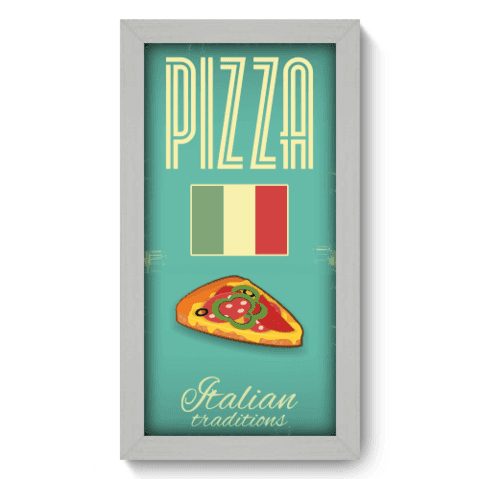 Quadro Decorativo - Pizza - 041qdcb