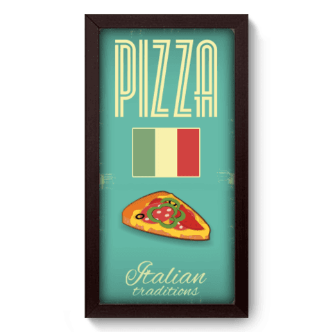 Quadro Decorativo - Pizza - 041qdcp