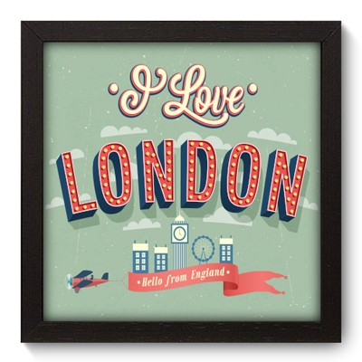 Quadro Decorativo - London - 041qdmp