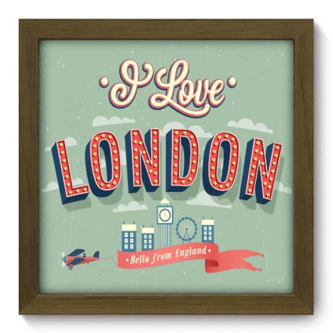 Quadro Decorativo - London - 041qdmm