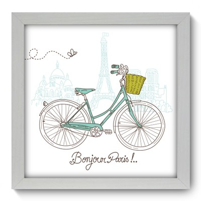 Quadro Decorativo - Bonjour Paris - 042qdmb