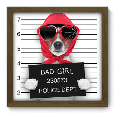 Quadro Decorativo - Bad Girl - 046qdsm