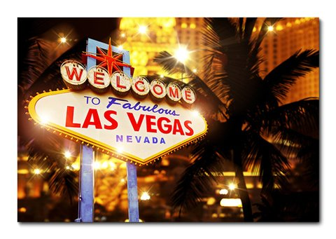 Placa Decorativa - Las Vegas - 0477plmk