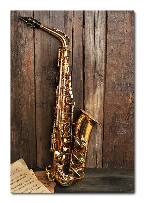 Placa Decorativa - Saxofone - 0479plmk