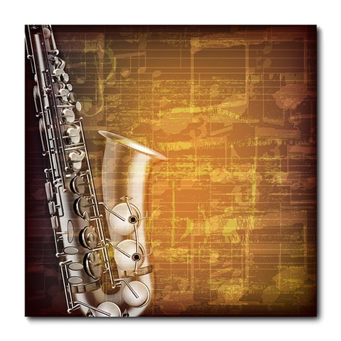 Placa Decorativa - Saxofone - 0480plmk