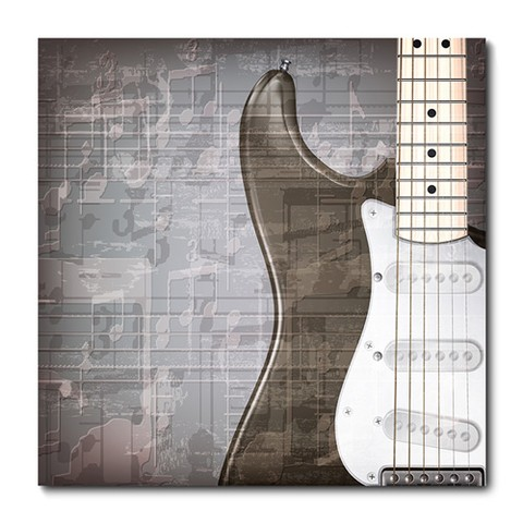 Placa Decorativa - Guitarra - 0481plmk