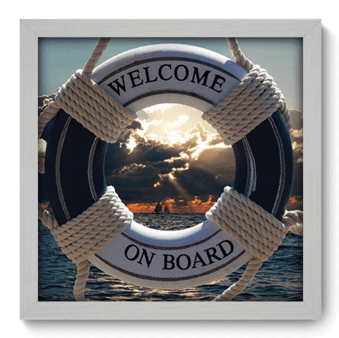 Quadro Decorativo - Welcome on Board - 048qdkb