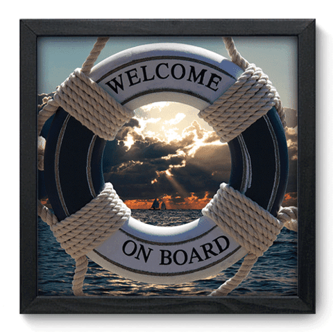 Quadro Decorativo - Welcome on Board - 048qdkp