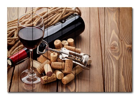 Placa Decorativa - Vinho - 0498plmk