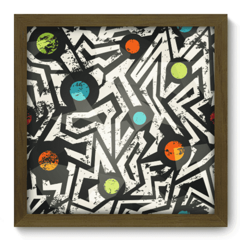 Quadro Decorativo - Abstrato - 050qdam