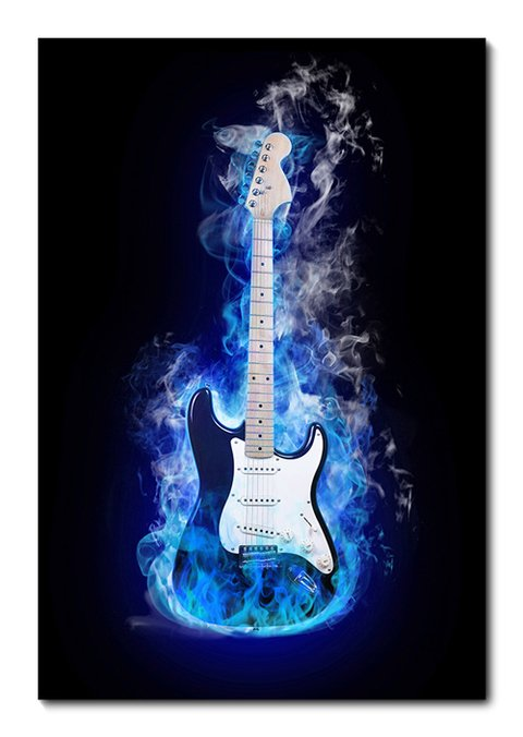 Placa Decorativa - Guitarra - 0519plmk