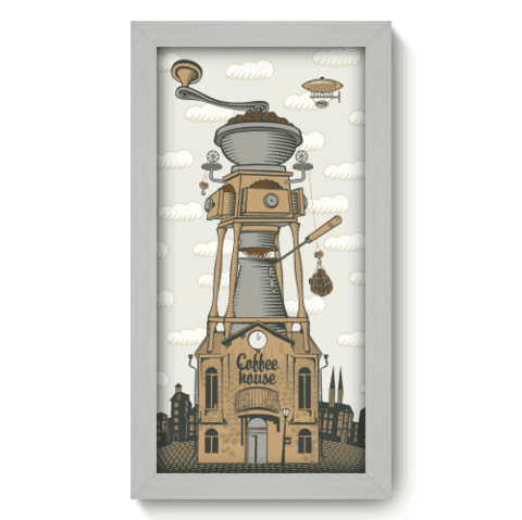 Quadro Decorativo - Coffee House - 053qdcb