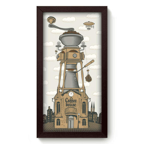 Quadro Decorativo - Coffee House - 053qdcp