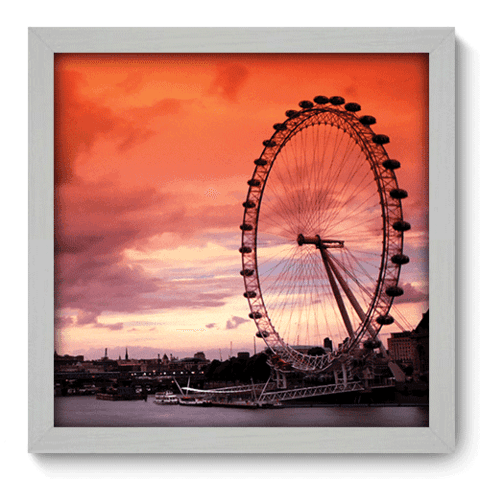 Quadro Decorativo - London Eye - 053qdmb