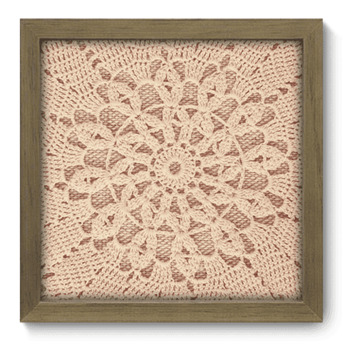Quadro Decorativo - Crochet - 053qdvm