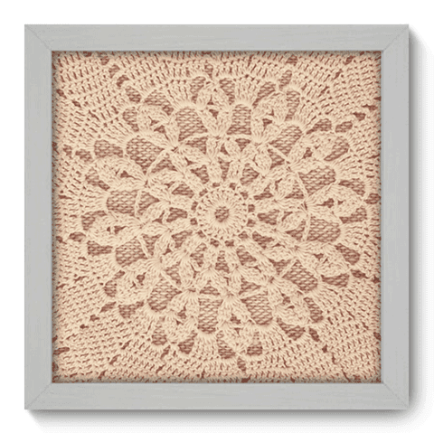 Quadro Decorativo - Crochet - 053qdvb