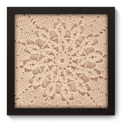 Quadro Decorativo - Crochet - 053qdvp