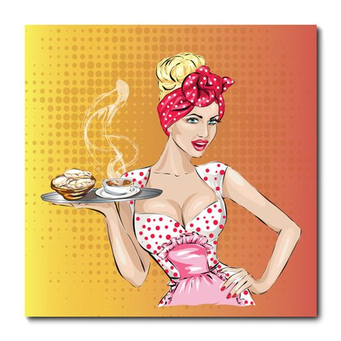 Placa Decorativa - Pin-up - Doces - 0546plmk