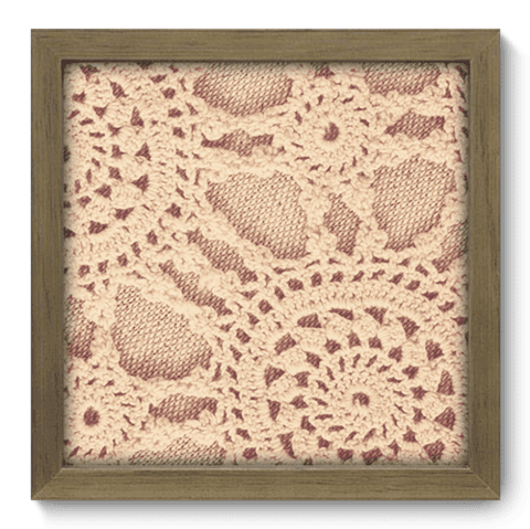 Quadro Decorativo - Crochet - 054qdvm