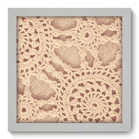 Quadro Decorativo - Crochet - 054qdvb