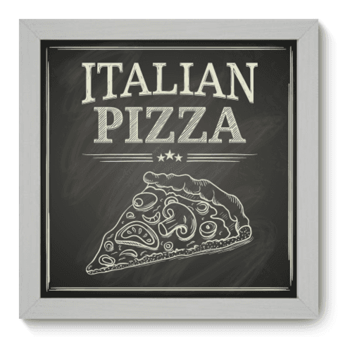 Quadro Decorativo - Pizza - 055qdcb