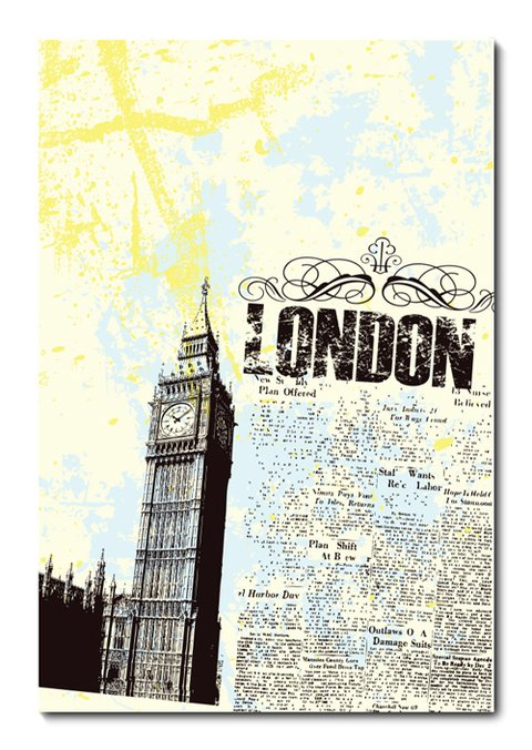 Placa Decorativa - Londres - 0599plmk