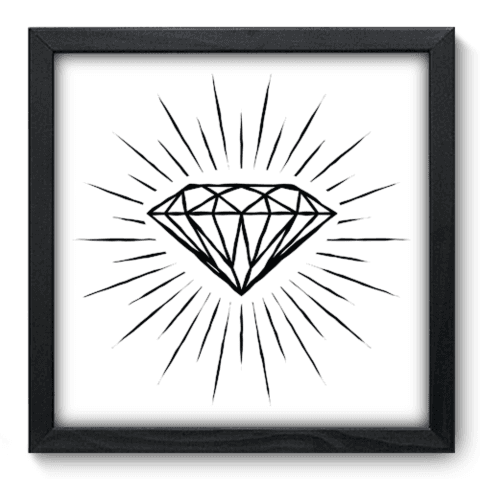 Quadro Decorativo - Diamante - 061qddp