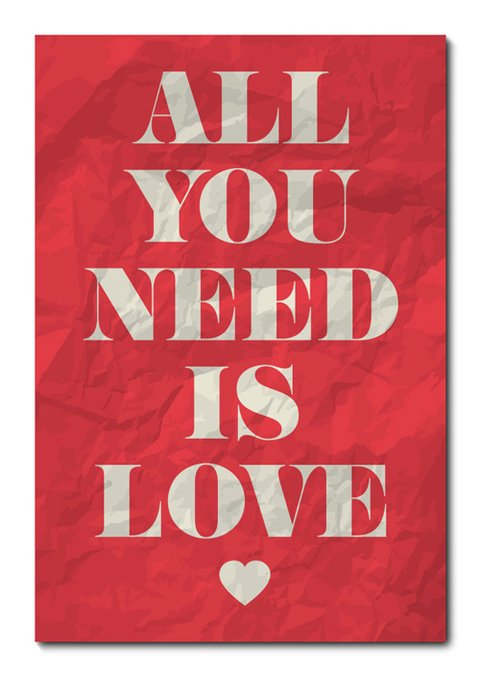 Placa Decorativa - All You Need Is Love  - 0625plmk
