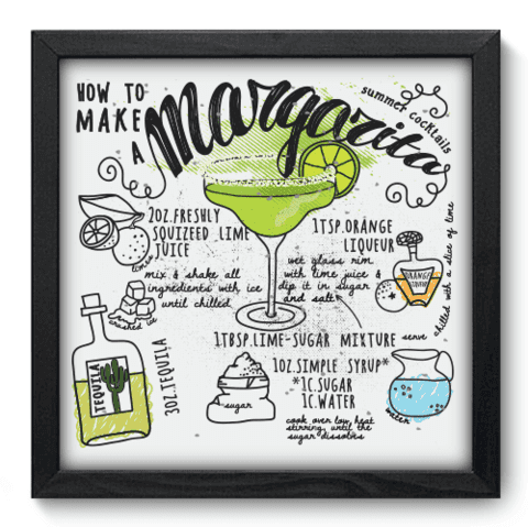 Quadro Decorativo - Margarita - 063qdcp