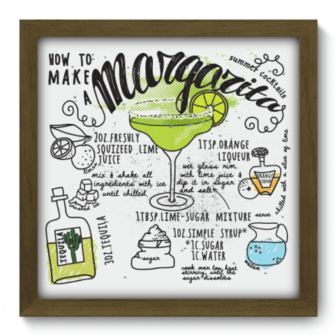 Quadro Decorativo - Margarita - 063qdcm