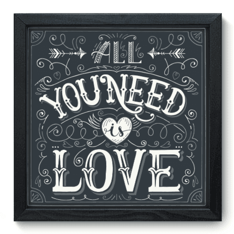 Quadro Decorativo - All You Need - 066qdrp